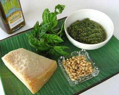 Les ingrédients pour préparer du pesto ?