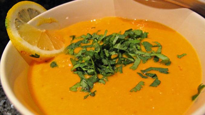 Recette de soupe de lentilles corail au Cookeo.